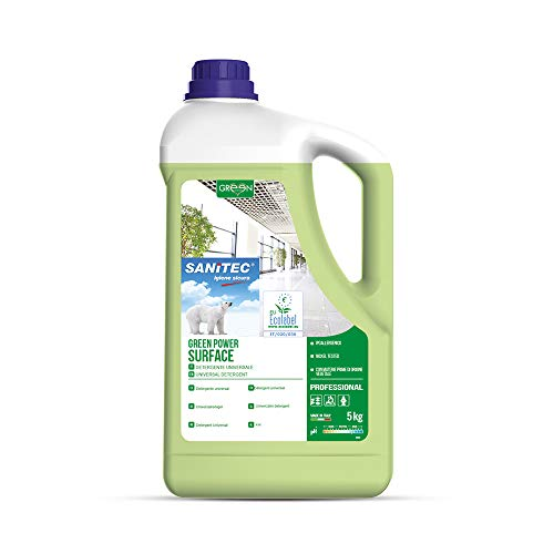 Sanitec Green Power 3105 Pavimenti, Detergente Concentrato, Ecologico, 5 kg
