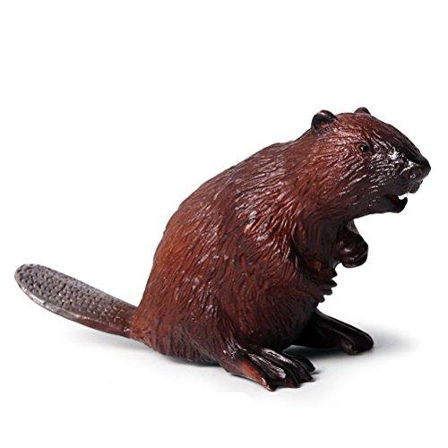TOYMYTOY Biber Figur Spielzeug Realistische Kunststoff Tiere Abbildung Frühe Bildung kognitiven Spielzeug (Braun)