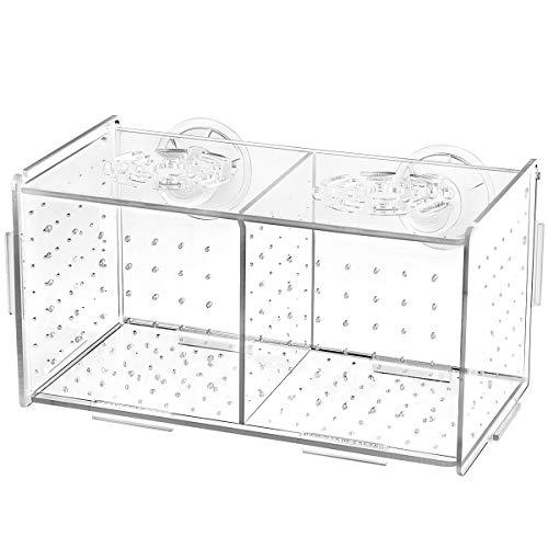 Balacoo Fischzucht Box-2 Isolationsbox Brutkasten Brutkasten Aquarium Fischzuchtboxen Teiler Brutboxen Zubehör-Saugnapf-Muster