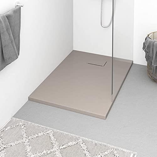 Plato de ducha, Plato de ducha Base Plato de ducha Plato de ducha SMC Marrón 100x70 cm