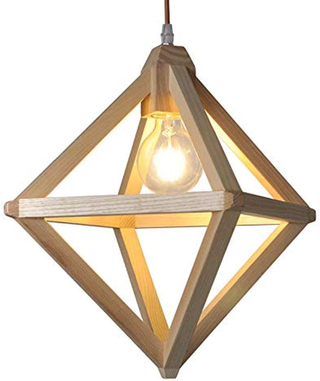Moderner Minimalistischer Kreativer Hlzerner Beleuchtungsleuchter, LED-Schutzaugenlampe-Massivholzdeckenleuchte Wohnzimmerstudienschlafzimmeresszimmer-Dekorationsleuchter (gre   19  27cm)