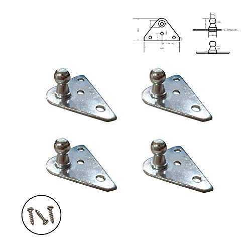 Travay 10mm Ball Stud Mounting Brackets for Universal Lift Support