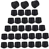 32 PCS 7/8 inch Round Chair Leg Tips Caps, CBTONE Anti-Slip Black Rubber Table Feet Covers Chair Leg Protectors