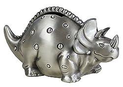 4. FUYU Creative Metal Cartoon Retro Dinosaur Piggy Bank