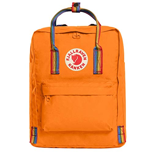 FJALLRAVEN Gepäck, Blau (Burnt Orange-Rainbow-Muster)
