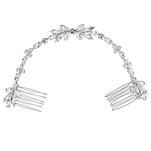 Lurrose Cristal Tassel Peigne De Cheveux De Mariée Peigne De Mariée Chaîne De Mariée Coiffure Vintage