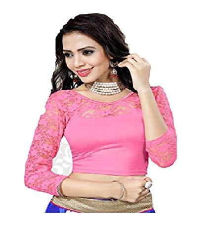 Indianstore24 Blouse bluse saree bollywood wedding hochzeit sari kleid damen indian ganz casual birthday crop top fertig genäht readymade gestickt Dehnbar Stretchable Material women party wear readymade indisch Eth