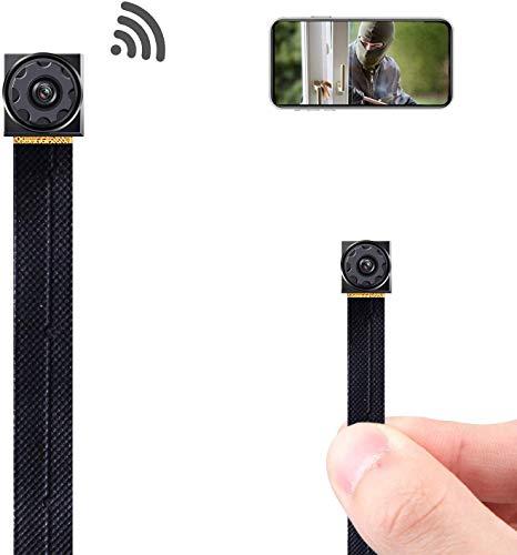 Mini Spy Camera Wireless Hidden Camera WiFi Tiny Hidden Spy Camera 1080P Covert Home Monitoring Security Surveillance Nanny Cam with Cell Phone App