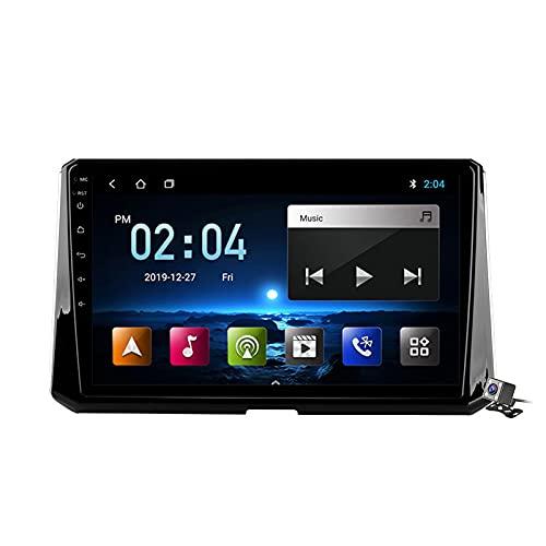 Android 10 Car Radio de Navegación GPS para Toyota Corolla 2017-2019 con 9 Pulgada Pantalla Táctil Support FM Am RDS DSP/MP5 Player/BT Steering Wheel Control/Carplay,M100