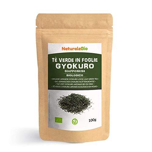 Japanischer Grüner Tee Gyokuro Bio 100g. 100% natürlicher und reiner grüner Tee lose in Blättern der ersten Ernte, die in Japan angebaut werden. Pure Organic Japanese Gyokuro Green Tea. NaturaleBio