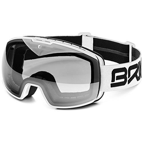 Briko Nyira (Cat 1) Skibril voor volwassenen, wit, uniseks