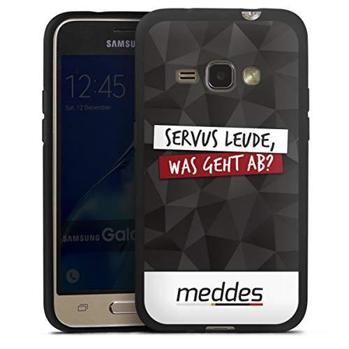 DeinDesign Silikon Hülle kompatibel mit Samsung Galaxy J1 (2016) Hülle schwarz Handyhülle Meddes Youtuber YouTube