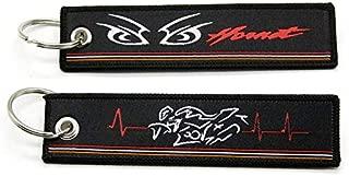 Zaida Motorcycle Key Chain Woven Key Ring Tag Label Chain Black Car Keychain for Honda X-ADV NC750X Hornet HRC (Hornet)