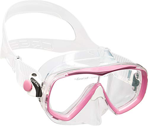 Cressi Unisex-Erwachsene Estrella Mask Premium Silikon Tauchmaske, Transparent/Rose, Einheitsgröße