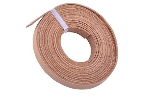 KONMAY Tiras de cordones de piel de vacuno de 3 metros, 10,0 x 2,0 mm, sin teñir, suave y natural
