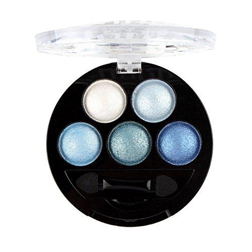 Wyxhkj Lidschatten, UBUB Gebackener Lidschatten Professionelle Augen Make-up Wasserdicht Lidschatten Palette Metallisch Schimmernd Eyeshadow Palette für Hochzeiten, Partys (A)