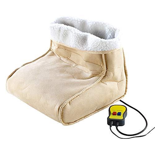 MostroMania Scaldapiedi 2 In 1 Con Funzione Massaggio Per Piedi, Accessori Casa Per L'Inverno