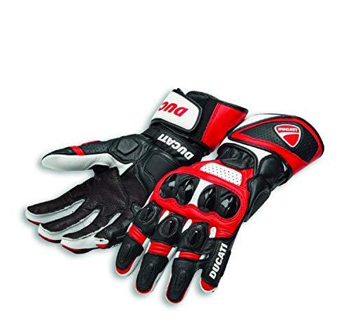 Ducati Speed Evo C1 Handschuhe aus Leder rot/weiß Größe L