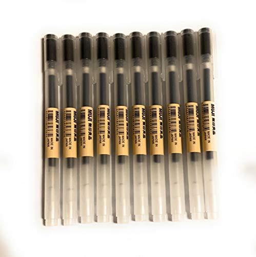 MoMa Muji Gel-Tintenroller 0,38mm, in Schwarz, 10 Stück