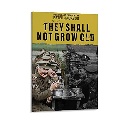 """RTYW Filmposter mit englischer Aufschrift """"They Shall Not Grow Old"""", 60 x 90 cm"""