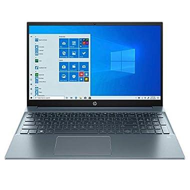 HP Pavilion 15.6″ FHD Touchscreen Laptop, Intel i7-1165G7, 16GB RAM, 512GB SSD, WiFi-6, Backlit Keyboard, USB-C, HDMI, Intel Iris Xe Graphics, B&O Play Audio, Backlit Keyboad, Fog Blue, Windows Home