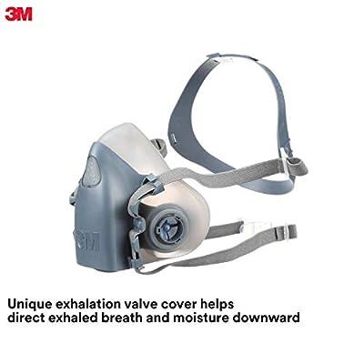 3M Personal Protective Equipment Half Facepiece Reusable Respirator 7501/37081(AAD), Respiratory Protection, Small