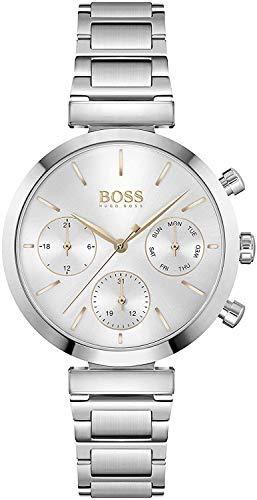 Hugo Boss Damen Analog Quarz Uhr mit Edelstahl Armband 1502530