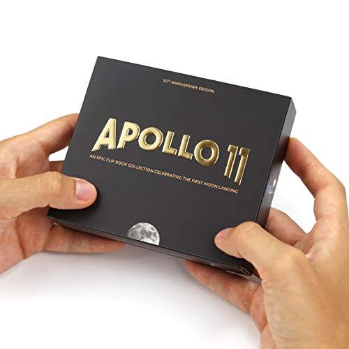 Apollo 11 Daumenkino Edition - 2 Flipbooks mit 12 verschiedenen Bildsequenzen der ersten Mondlandung. Mit Augmented Reality 3D Modellen der Saturn V Rakete und der Mondlandefähre