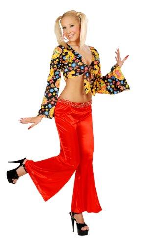Générique Pantalon Stretch Femme Rouge « 70'S »