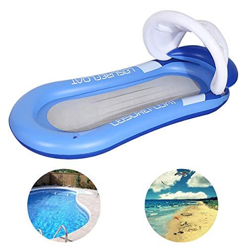Queta Materasso Gonfiabile Piscina Amaca Gonfiabile Mare Materassino Gonfiabile per Piscina Mare Nuotare Prendere Il Sole Blu 160*90cm