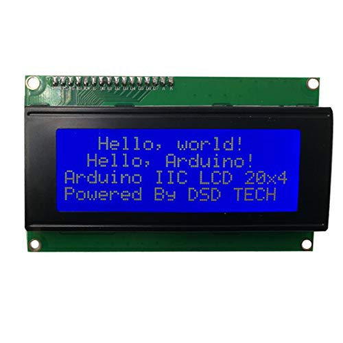 DSD TECH SH-D2004 20x4 2004 LCD-Bildschirm Blau mit IIC-Modul-Schnittstellenadapter für Arduino UNO R3 Mega2560 Nano Raspberry pi