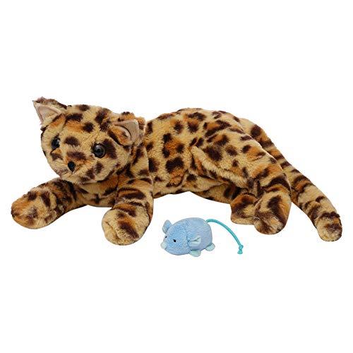 Manhattan Toy- Loki Leopard-Gato de Peluche con Patas Delanteras ratón magnético, Multicolor (160140)