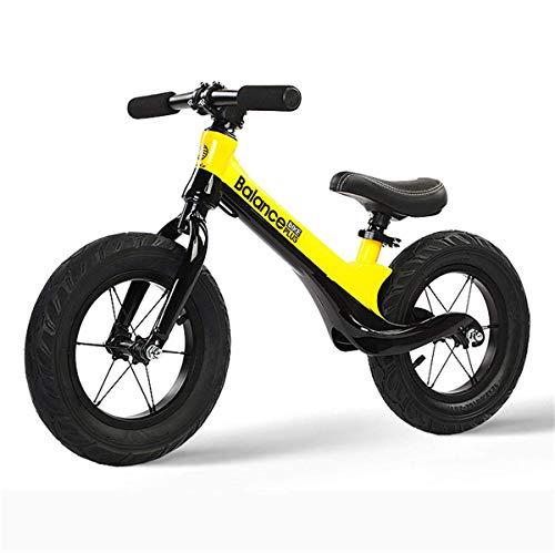 CHUTD Bicicleta de Equilibrio, Ligera, sin Pedales, para niños pequeños, para Caminar, para niños de 2 a 6 años, Color Amarillo