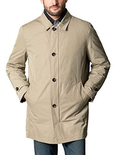 Walbusch Herren 2 in 1 Mantel einfarbig Beige 25