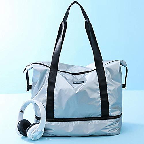 WUYANSE - Bolsa de Viaje de Gran Capacidad, Impermeable, con Compartimento para Zapatos Independiente, Tela Oxford, Color sólido