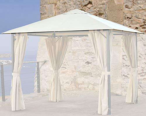 QUICK STAR Ersatzdach 3x3m Gartenpavillon Nizza Sand Pavillon Partyzelt
