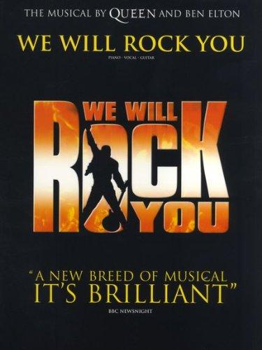 WE WILL ROCK YOU Songbook piano/vocal/guitar mit Bleistift -- Die Songs aus dem Musical von Queen und Ben Elton u.a. mit BOHEMIAN RHAPSODY und WE ARE THE CHAMPIONS arrangiert für Klavier, Gesang und Gitarre (Noten / sheet music)