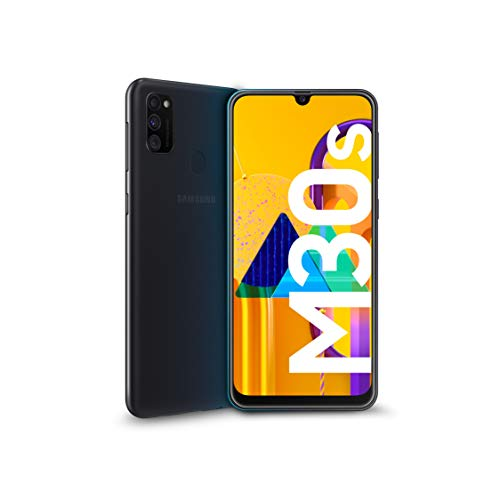 Samsung Galaxy M30s Smartphone, Display 6.4' FHD+, Super AMOLED, 64 GB Espandibili, RAM 4 GB, Batteria 6000 mAh, 4G, Dual SIM, Android 9 Pie  [Versione Italiana], Black