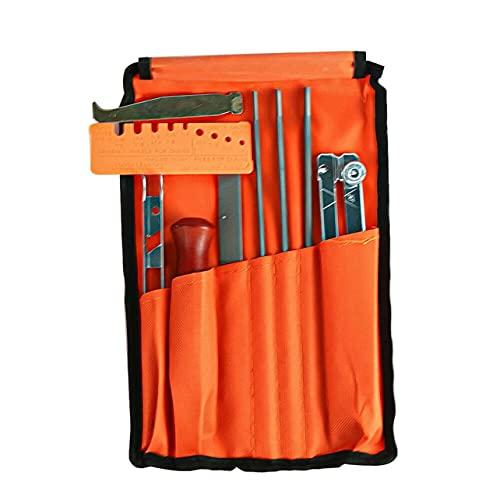 OKAYOU ラウンドファイル10個チェーンソーアクセサリー耐久性のあるスーツチェーン研ぎツールバッグ研ぎツール実用的なブレードファイル
