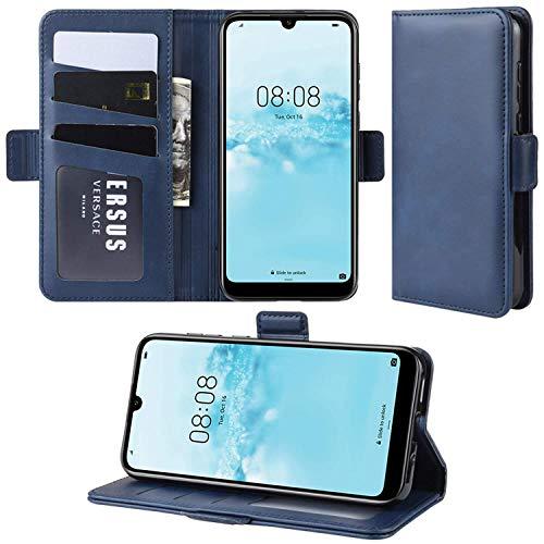HualuBro Handyhülle für Oppo Find X2 Neo Hülle, Premium PU Leder Brieftasche Schutzhülle Handytasche LederHülle Flip Hülle Cover für Oppo Find X2 Neo Tasche - Blau