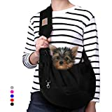 TOMKAS Small Dog Cat Carrier Sling Hands Free Pet Puppy Outdoor Travel Bag Tote...