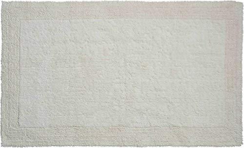 Grund Alfombra de Baño, Ultra Suave, Absorbente y Antideslizante, Algodón Orgánico, 5 Años de Garantía, Luxor, Alfombra de Baño 80x150 cm, Natural