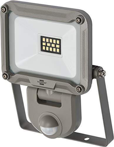 Brennenstuhl LED Strahler JARO 1000P / LED-Leuchte für außen mit Bewegungsmelder (LED-Außenstrahler zur Wandmontage, LED-Fluter 10W aus Aluminium, IP44)