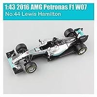 GaoHR 1:43スケール2020 BBURAGOレーサーSF1000 RB15 SF90 W10ルイスハミルトンチャールズLeclerc Sebastian Vettel Diecastモデル車両の車のおもちゃ HR (Color : 2016 W07 No.44Lewis)