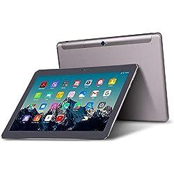 Tablet 10 Pollici - TOSCIDO Android 10.0,Quad core,4G LTE Dual Sim Carta,64 GB Memoria,RAM 4 GB,WiFi/Bluetooth/GPS/OTG,Suono Stereo con Doppio Altoparlante – Grigio