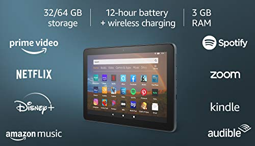 All-new Fire HD 8 Plus tablet, HD display, 32 GB, our best 8