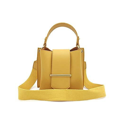 Borsa a tracolla moda donna Selvatiche spallacci Messenger piccola larghezza pacchetto quadrato Adatto a varie scuole, viaggi, regali (Color : Yellow, Size : 13 INCH)