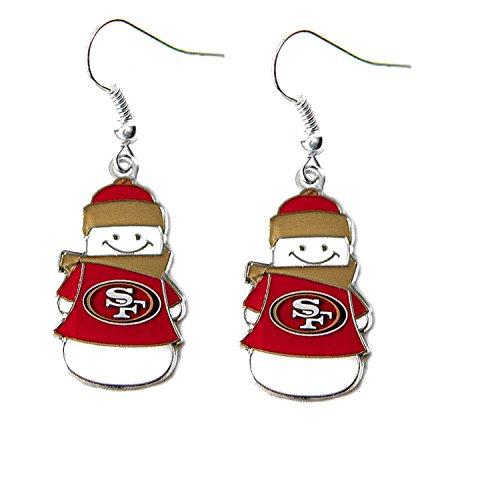 Brincos de boneco de neve NFL San Francisco 49ers