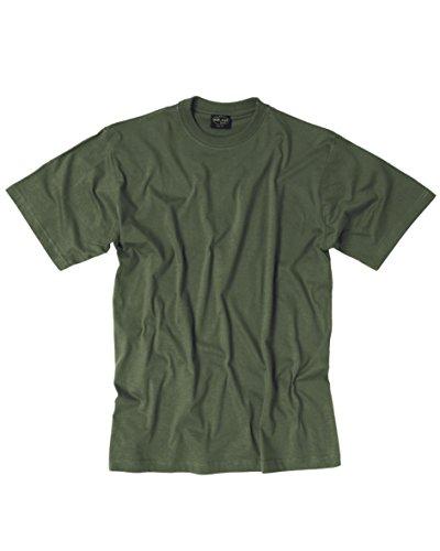 Mil-Tec Camiseta de Manga Corta para Hombre, Estilo Militar, Disponible en 6 Colores, Hombre, Camiseta, 11011016-903, Gris Oliva, Talla única