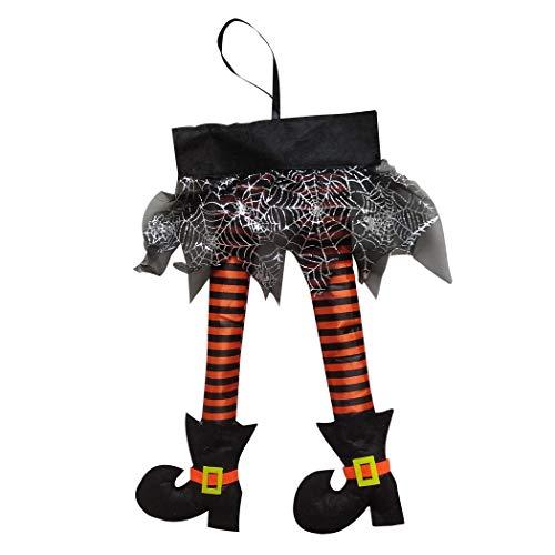 JUDTDOLIFTAdorno de Halloween Novedad Bruja Pierna Colgando Adorno Colgando Decoración